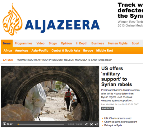 Al-Jazeera: military support