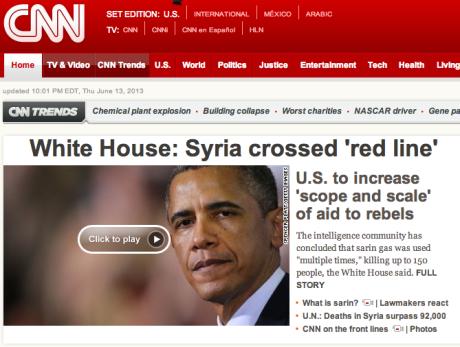 CNN: red line