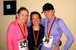 3 medals, 3 PRs. 39.3 miles total. Also, I look gross.