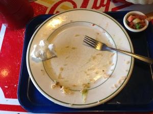 This was a delicious guacamole tostada.